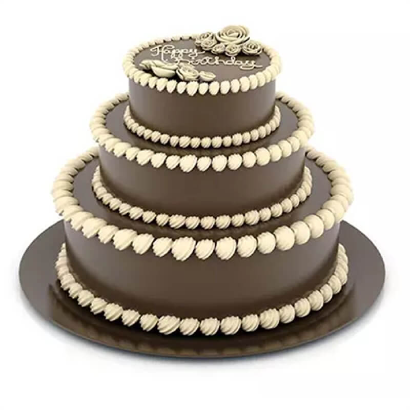 3 Tier Chocolate Truffle Cake Delivery In Mohali