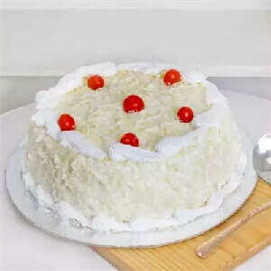 White Forest Cake With Cherries