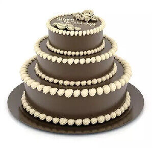 3 Tier Chocolate Truffle Cake