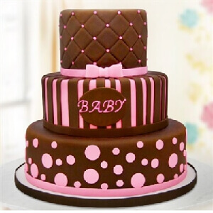 Adorable Baby Girl Fondant Cake