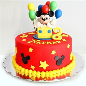 Adorable Micky Mouse Cake