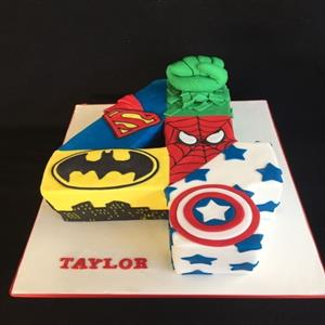 All Superheros Cake
