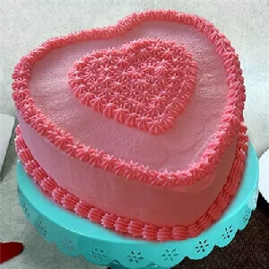 Double Strawberry Heart Shape Cake