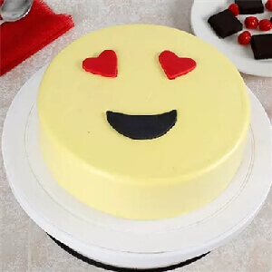 Emoji With Heart Cake